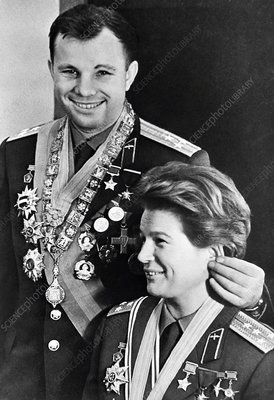 Gagarin and Tereshkova, Soviet cosmonauts