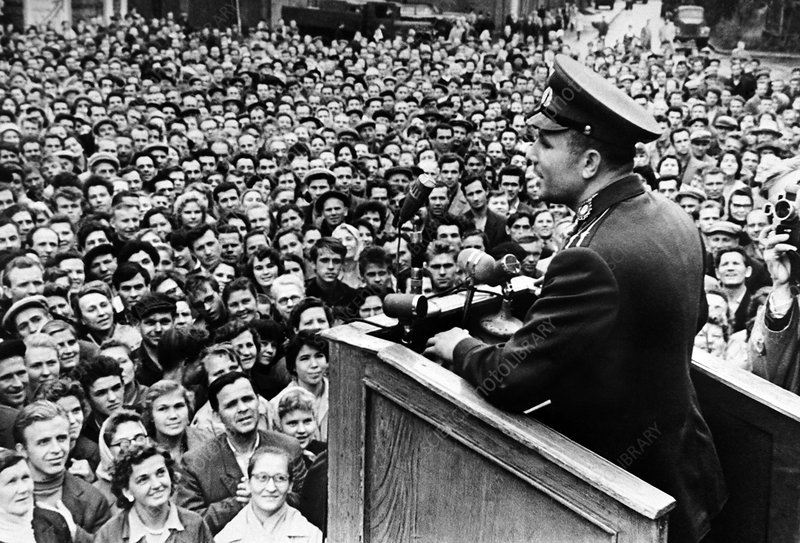 Gagarin post-flight tour, Leningrad, 1962