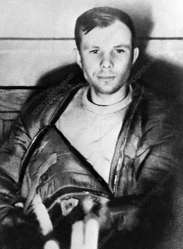 Gagarin after Vostok 1 landing, 1961
