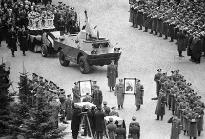 Funeral of Gagarin and Seryogin, 1968