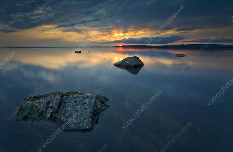 Twilight on the shore of Quebec, Canada
