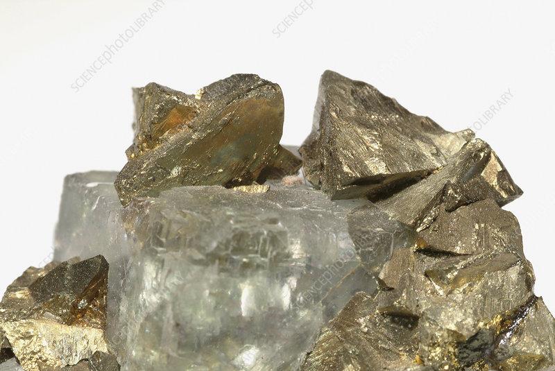 Chalcopyrite tetrahedral pyramid crystals
