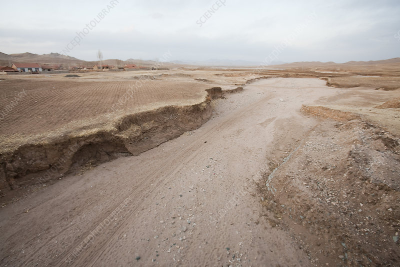 Drought-affected river, Northern China