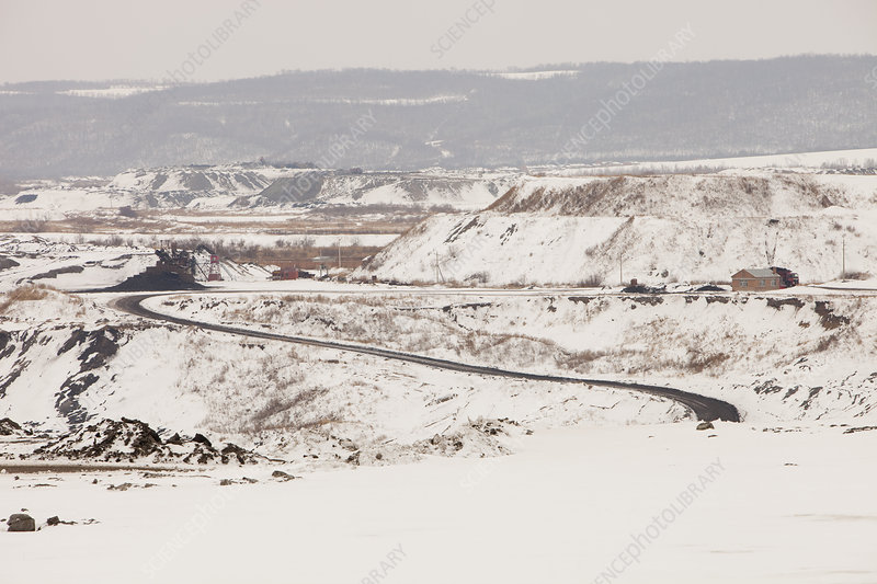 Open pit coal mine, China