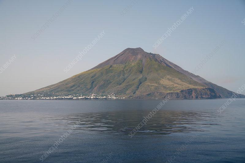 Stromboli Island with Stromboli Volcano