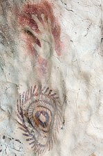 Rock painting Timor-Leste