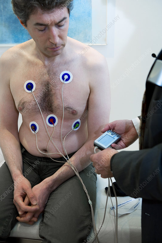 Man with ecg holter