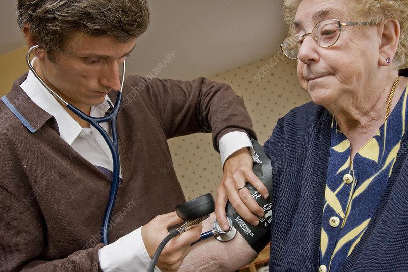 Blood pressure, elderly person