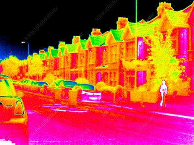 Suburban street, thermogram