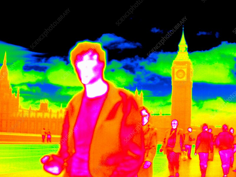 Crossing Westminster Bridge, thermogram