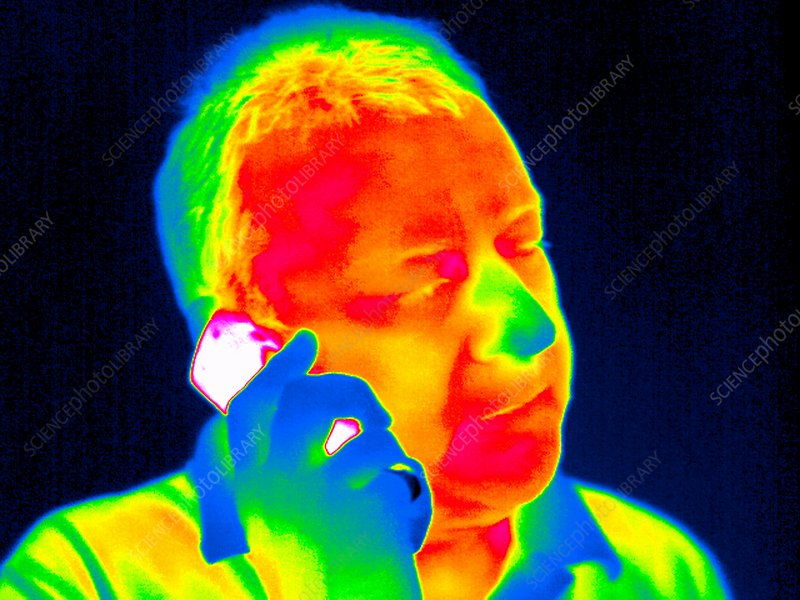 Mobile phone use, thermogram