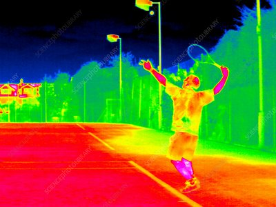 Tennis player, thermogram