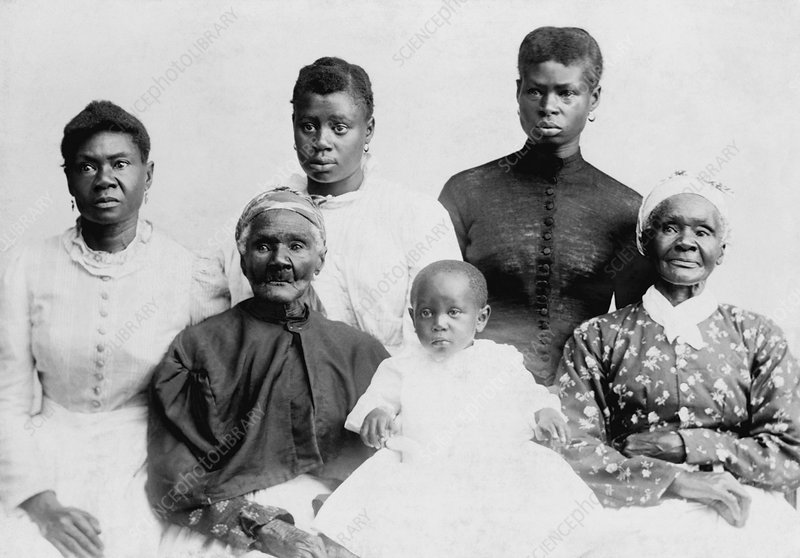 Six African-American generations, 1890s