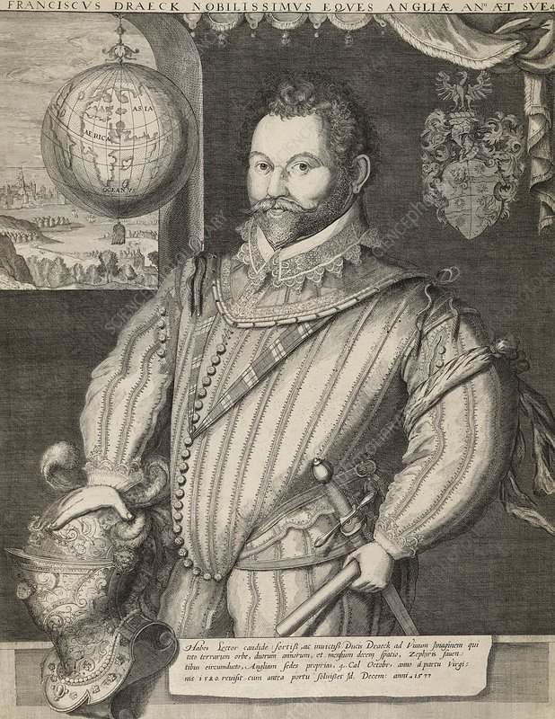 Sir Francis Drake, English admiral