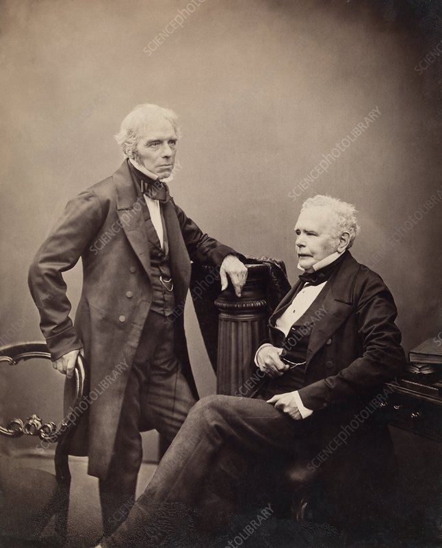Faraday and Brande, English scientists