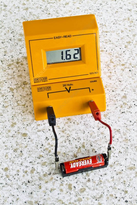 Voltmeter At A Point : Digital voltmeter stock image c  science photo