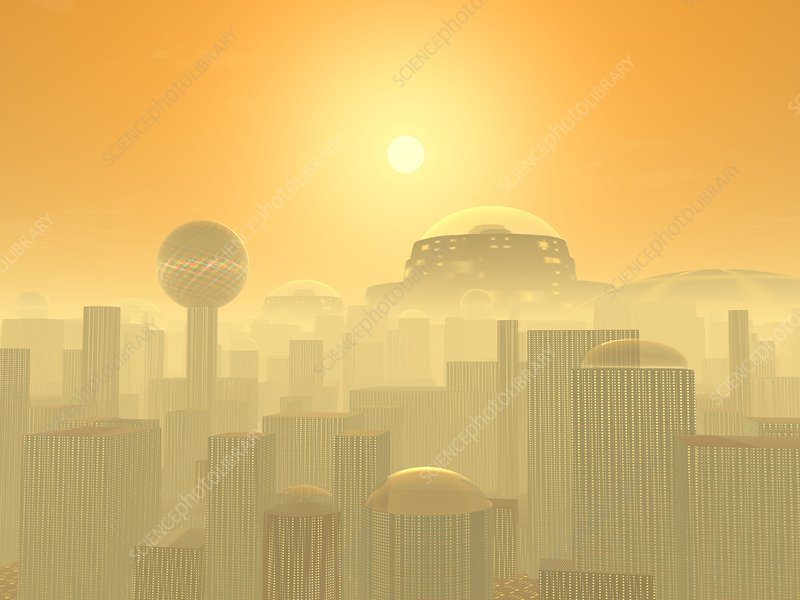 Future Earth cityscape, artwork