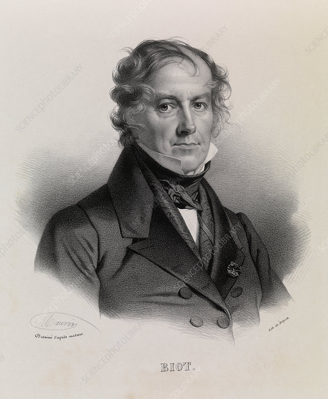 Jean Baptiste Biot, French physicist