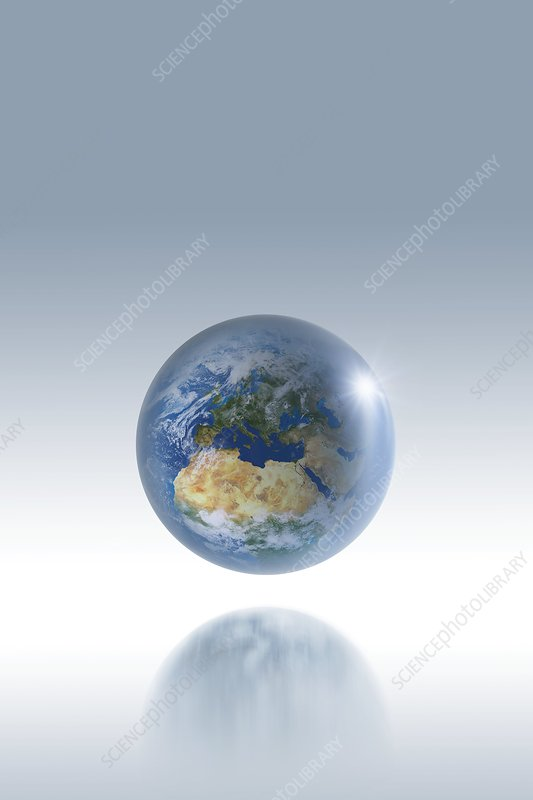 Earth globe, artwork