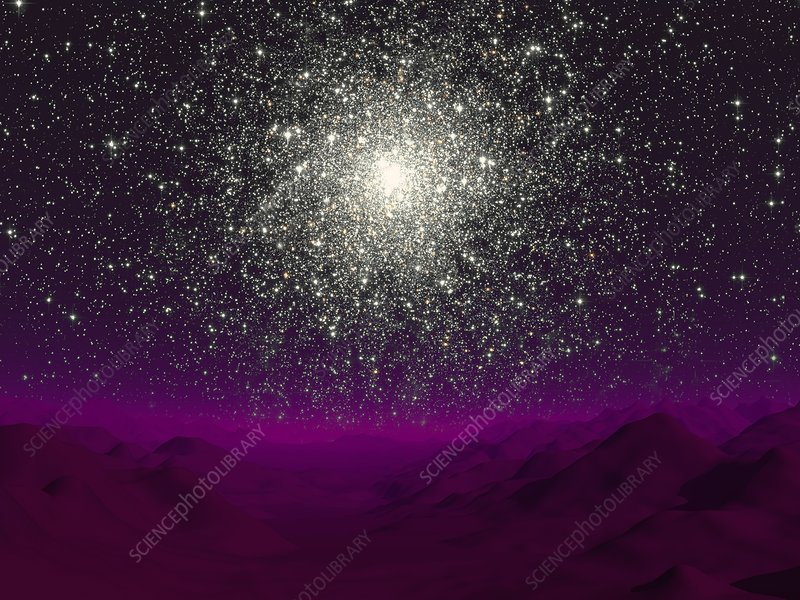 Globular cluster, artwork