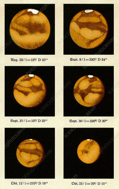 Beyer's observations of Mars