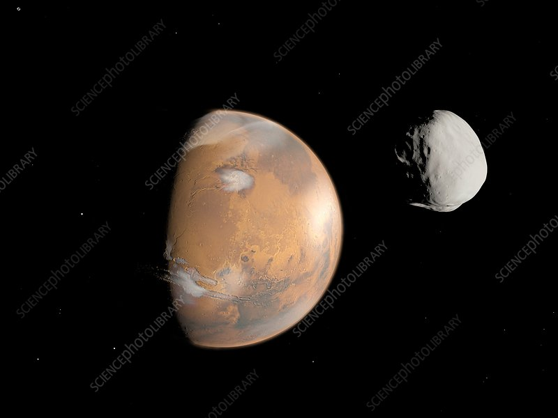 Mars and Deimos, artwork