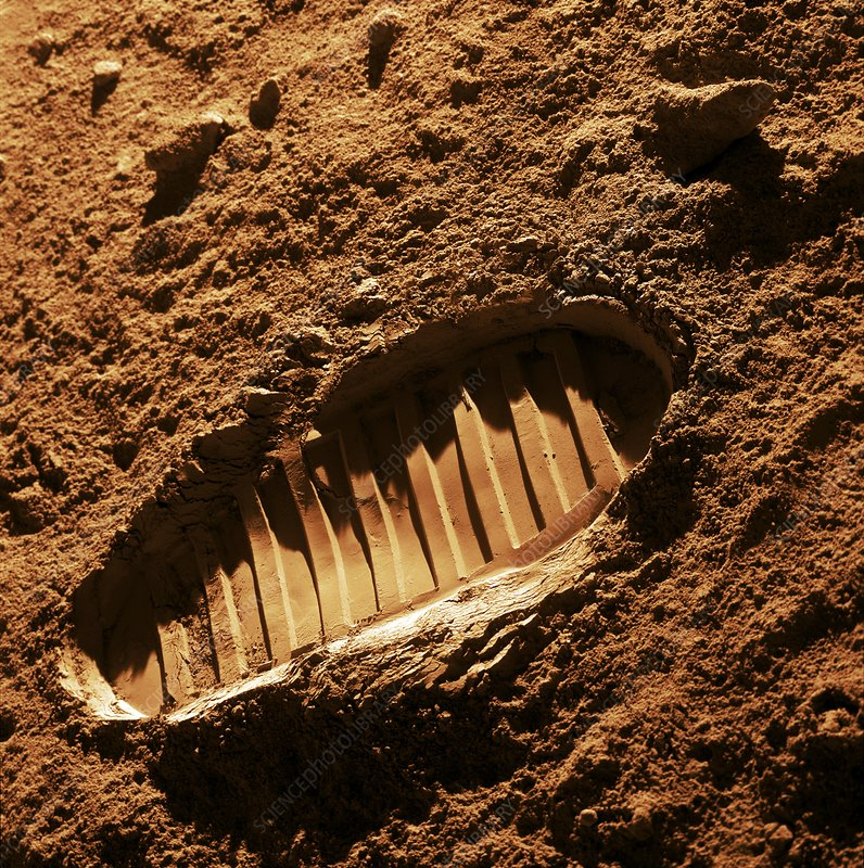 Bootprint on Mars, artwork