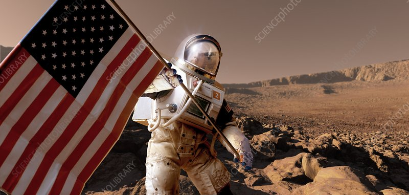US exploration of Mars, artwork