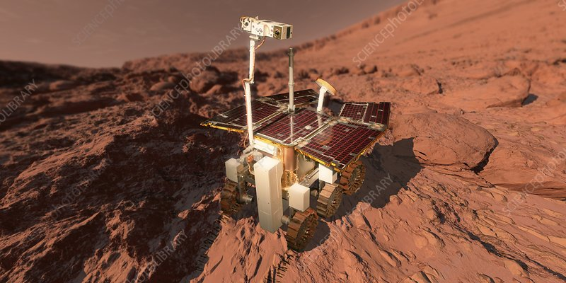 ExoMars rover, artwork