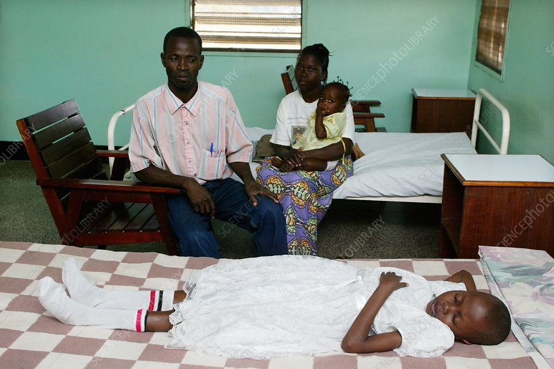 Sleeping sickness patient, Congo