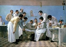 Diphtheria treatment, artwork