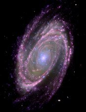 Spiral galaxy M81, composite image