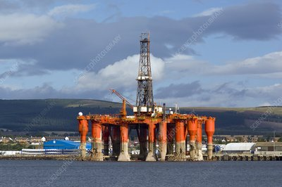 Oil drilling rig, North Sea