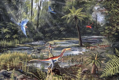 Cretaceous life, artwork