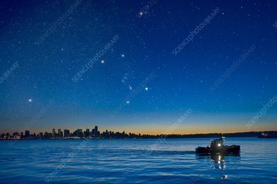 Orion over Vancouver, Canada