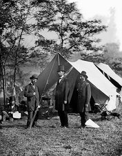 Abraham Lincoln at Antietam Creek