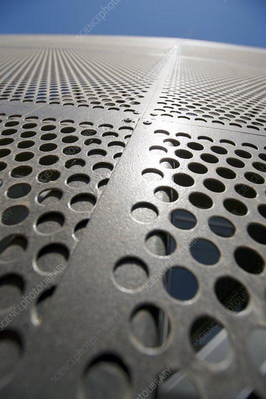 Steel facade of the imam building spain stock image - Steel framing espana ...