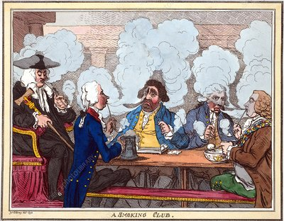 Smoking club, 18th century artwork