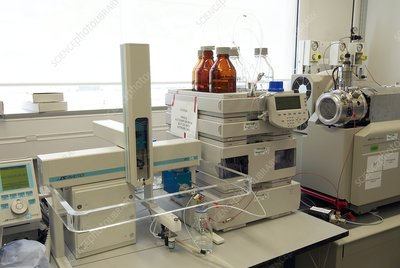 Mass spectrometer in a lab