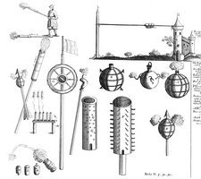 17th century weapons, artwork