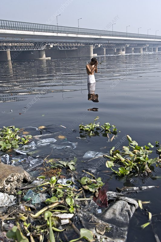 River pollution and prayers