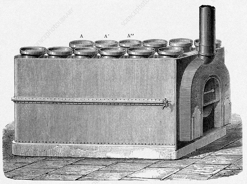 milk pasteurization 19th century stock image c0070249