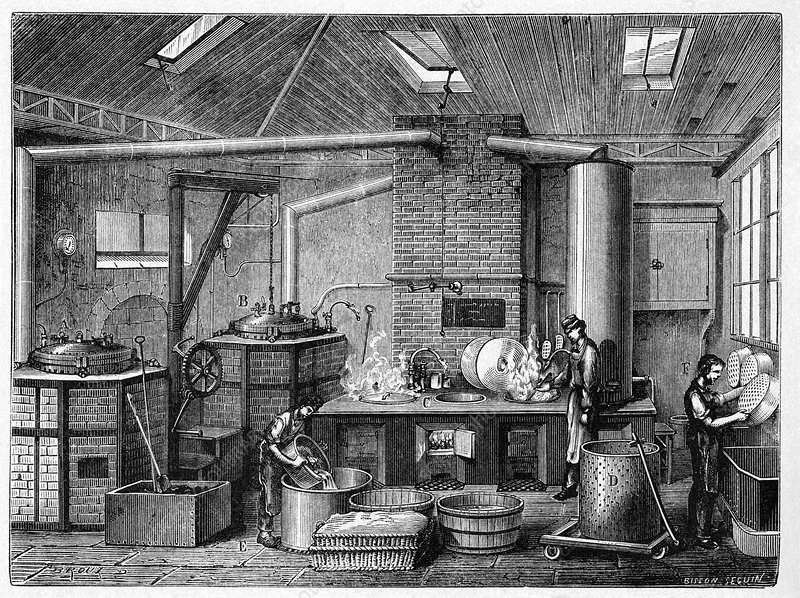 Canning kitchen, 19th century