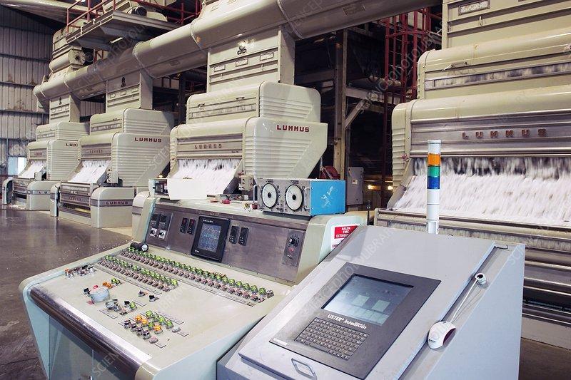 Cotton processing plant