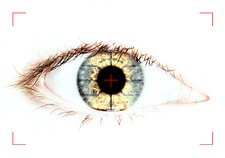 Biometric eye scan, conceptual image