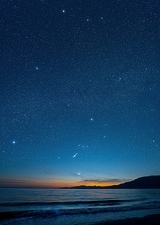 Orion over the Georgia Strait, Canada