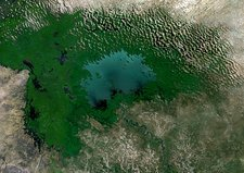 Lake Chad, 1975, satellite image