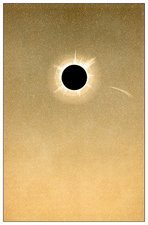 Total solar eclipse of 1882 and comet