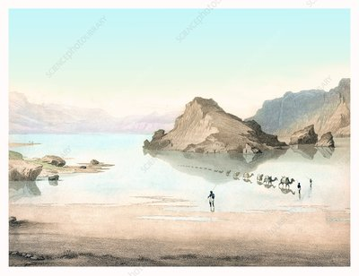 Desert mirage, 1854 artwork