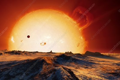 Sun over dying Earth, artwork